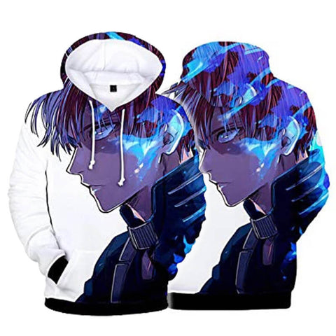 Unisex Multi-colored My Hero Academia Hoodie 3D Printed Hooded Pullover Sweatshirt