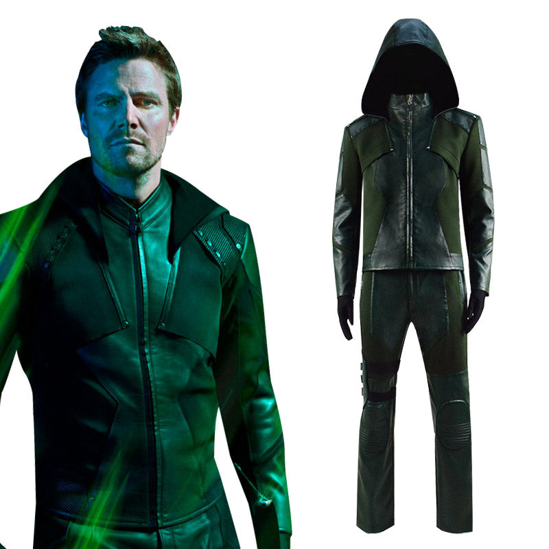 DC Comics Green Arrow Season 8 Oliver Queen Cosplay Costume Outfit - ACcosplay