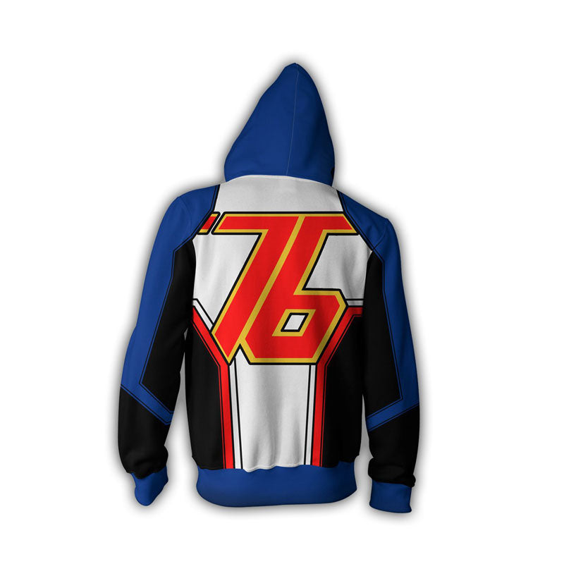 Overwatch Soldier 76 Mercy Hoodie 3D Printed Zipper Jacket Cosplay Costume - ACcosplay