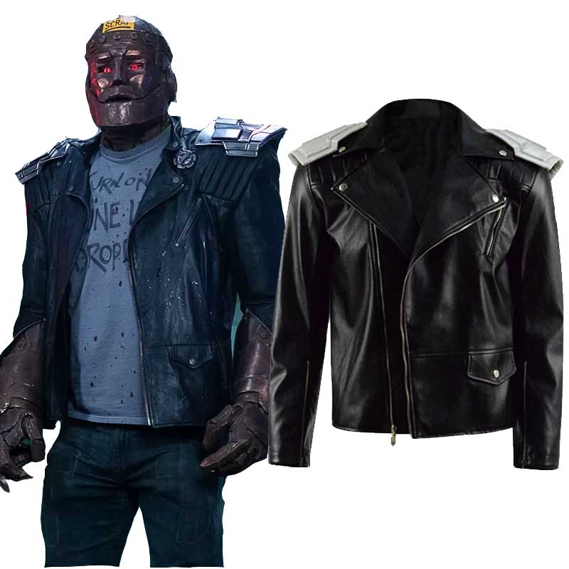 DC Doom Patrol Robotman Leather Coat Cosplay Costume - ACcosplay