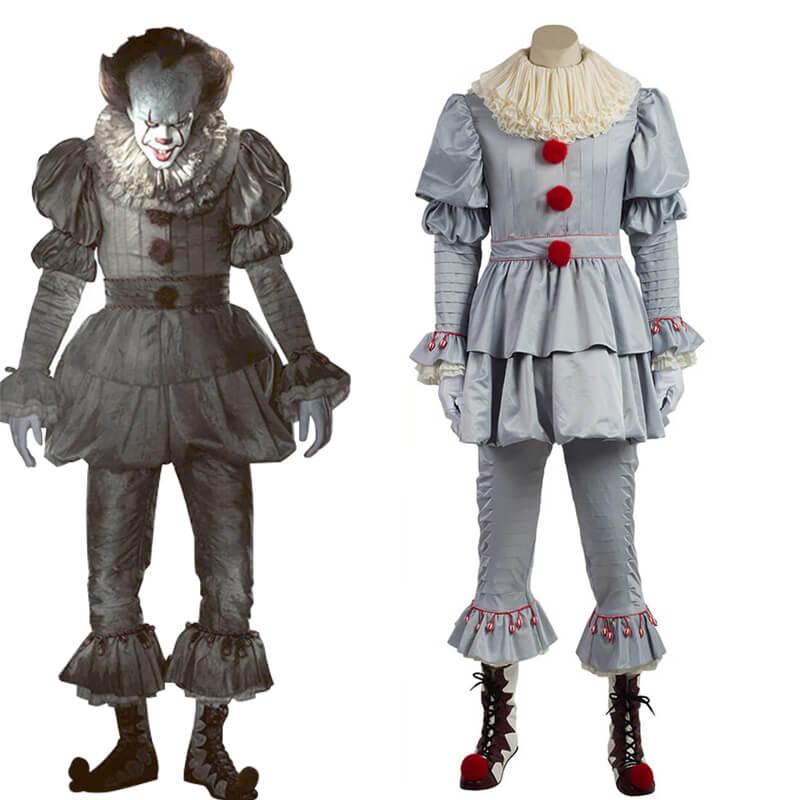 Adults Halloween Pennywise Clown Cosplay Costumes Outfits - ACcosplay