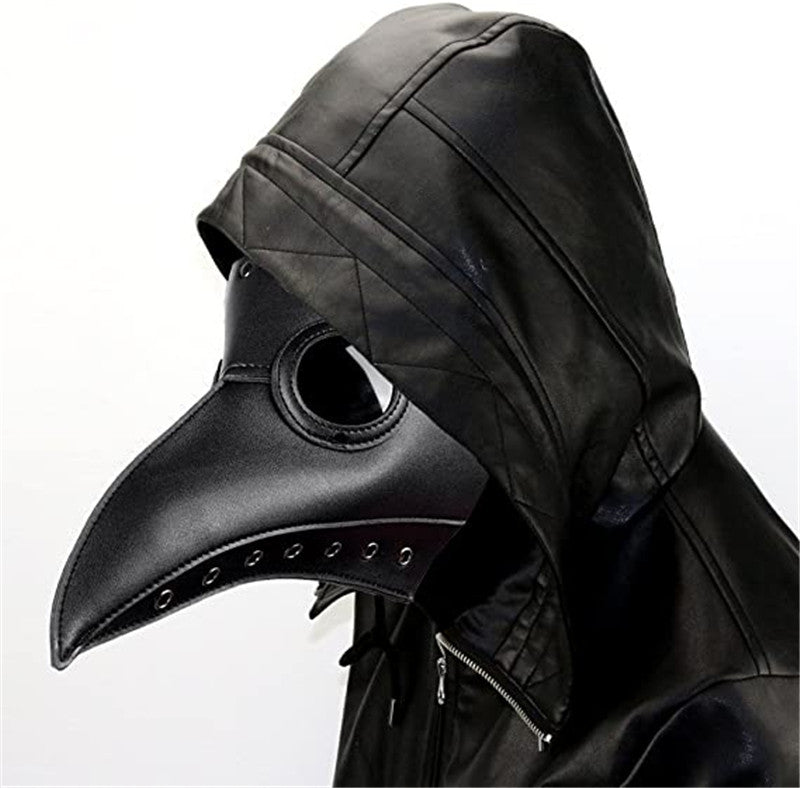 Plague Doctor Bird Mask Long Beak Halloween Party Mask Steampunk Props