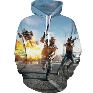 3D Print Hoodie PUBG Playerunknowns Battlegrounds Hoodie Game Sweatshirt - ACcosplay