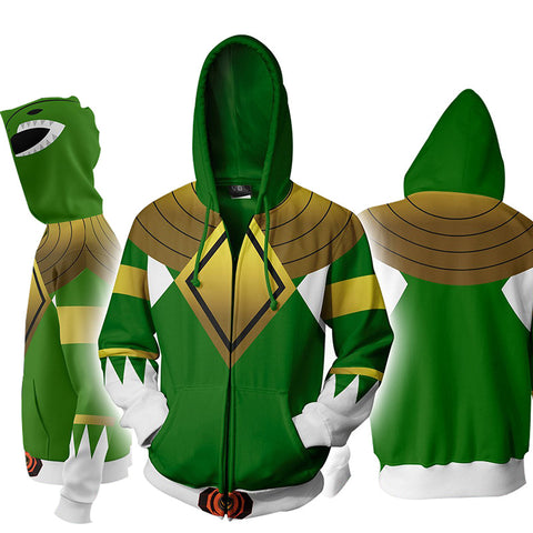 Power Ranger Hoodie 3D Printed Jacket Adult Pullover Zipper Coat - ACcosplay