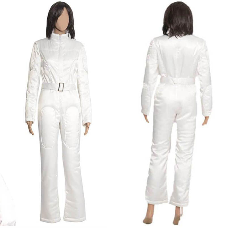 Star Wars Princess Leia White Jumpsuit costume /<custome made:free shipping: