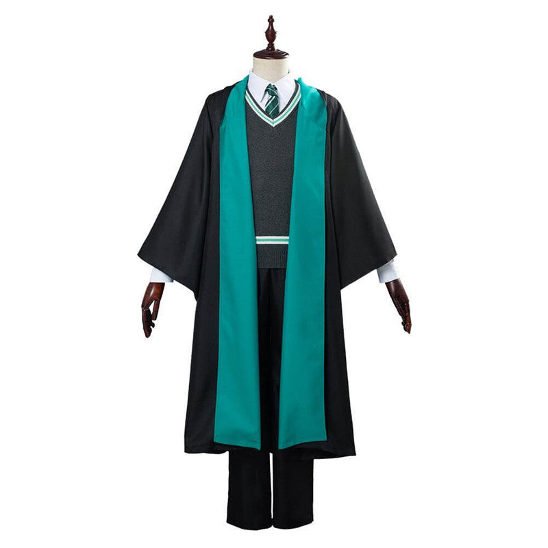 Harry Potter Slytherin School Uniform Robe Cloak Halloween Outfit ACcosplay