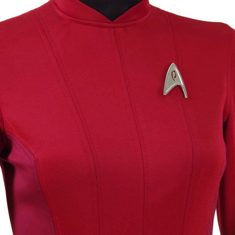 Star Trek Beyond Costume Uhura Engineer Crewman Red Dress Uniform Girls Women - ACcosplay