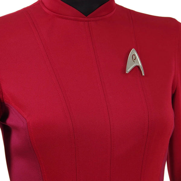 Star Trek Beyond Costume Uhura Engineer Crewman Red Dress Uniform Girls Women