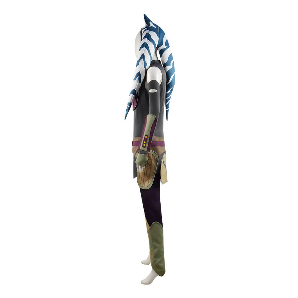 Star Wars Rebels Ahsoka Tano Cosplay Halloween Costume Adults