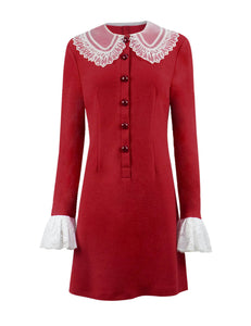 The Chilling Adventures of Sabrina Red Dress Cosplay Halloween Costume - ACcosplay