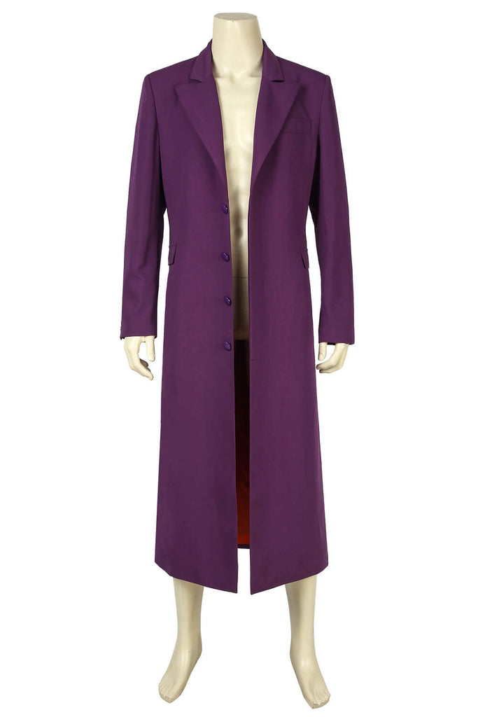 The Dark Knight Batman Joker Clown Purple Coat Cosplay Men Halloween Costume - ACcosplay