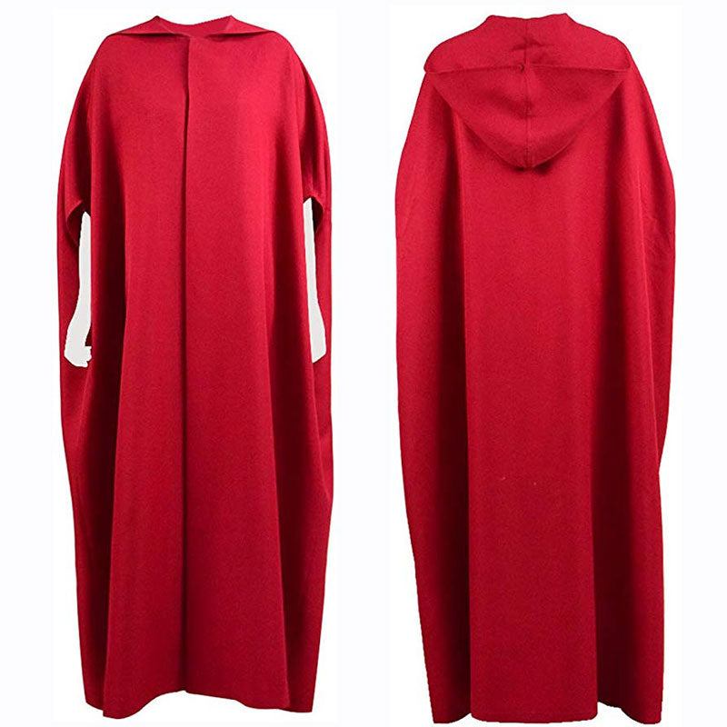 The Handmaid's Tale Cloak Cape Dress Party Women Cosplay Costume - ACcosplay