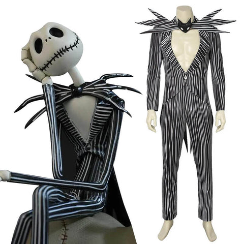 The Nightmare Before Christmas Halloween Costumes Ideas Jack Cosplay Suit - ACcosplay