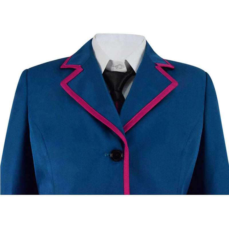 Adult The Umbrella Academy Blue School Uniform Outfit Cosplay Costume - ACcosplay