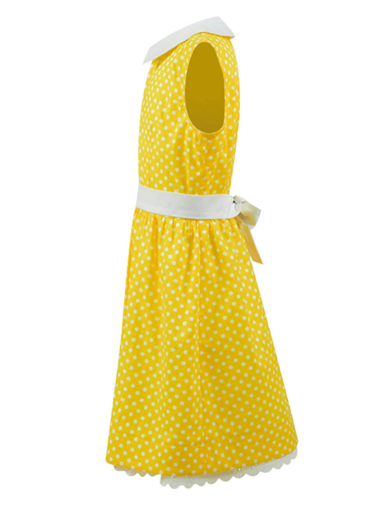 Disney Toy Story 4 Gabby Gabby Dotted Yellow Dress Cosplay Costume Kids Children - ACcosplay