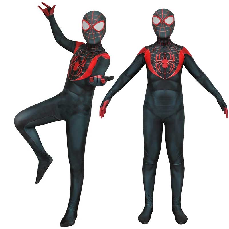 Ultimate Spider-Man Miles Morales Zentai Jumpsuit Cosplay Costume - ACcosplay