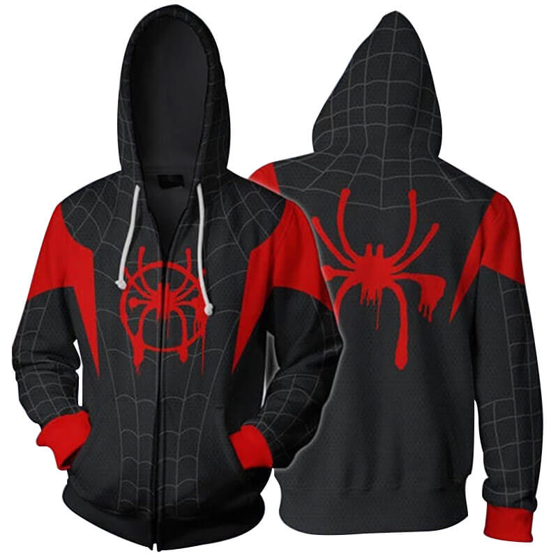Unisex Spiderman Hoodie For Sale 3D Printed Jacket Superhero Halloween Costume - ACcosplay