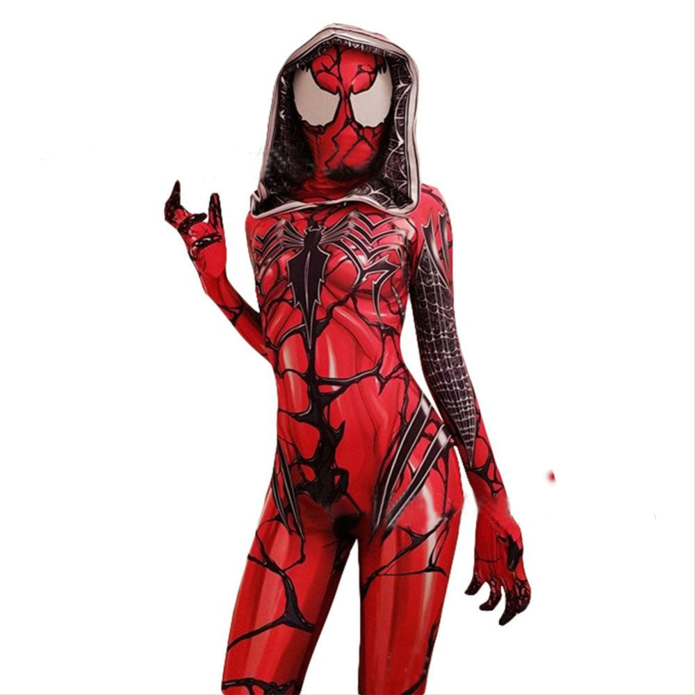 Venom Gwen Stacy Spiderman Zentai Bodysuit Cosplay Halloween Mask Costume - ACcosplay