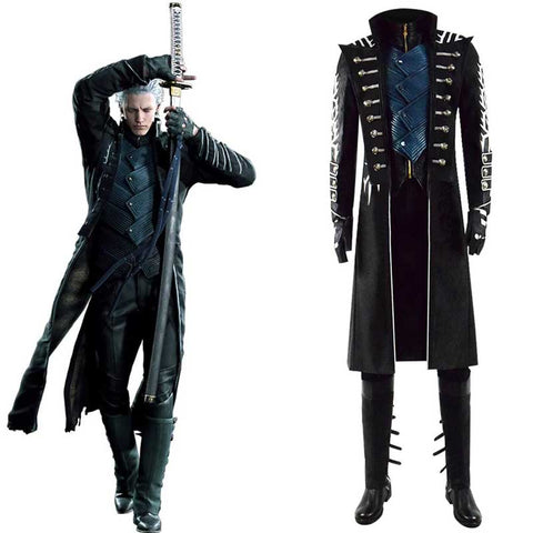 ACcosplay Devil May Cry 5 DMC 5 Vergil Cosplay Outfit Game Costume - ACcosplay
