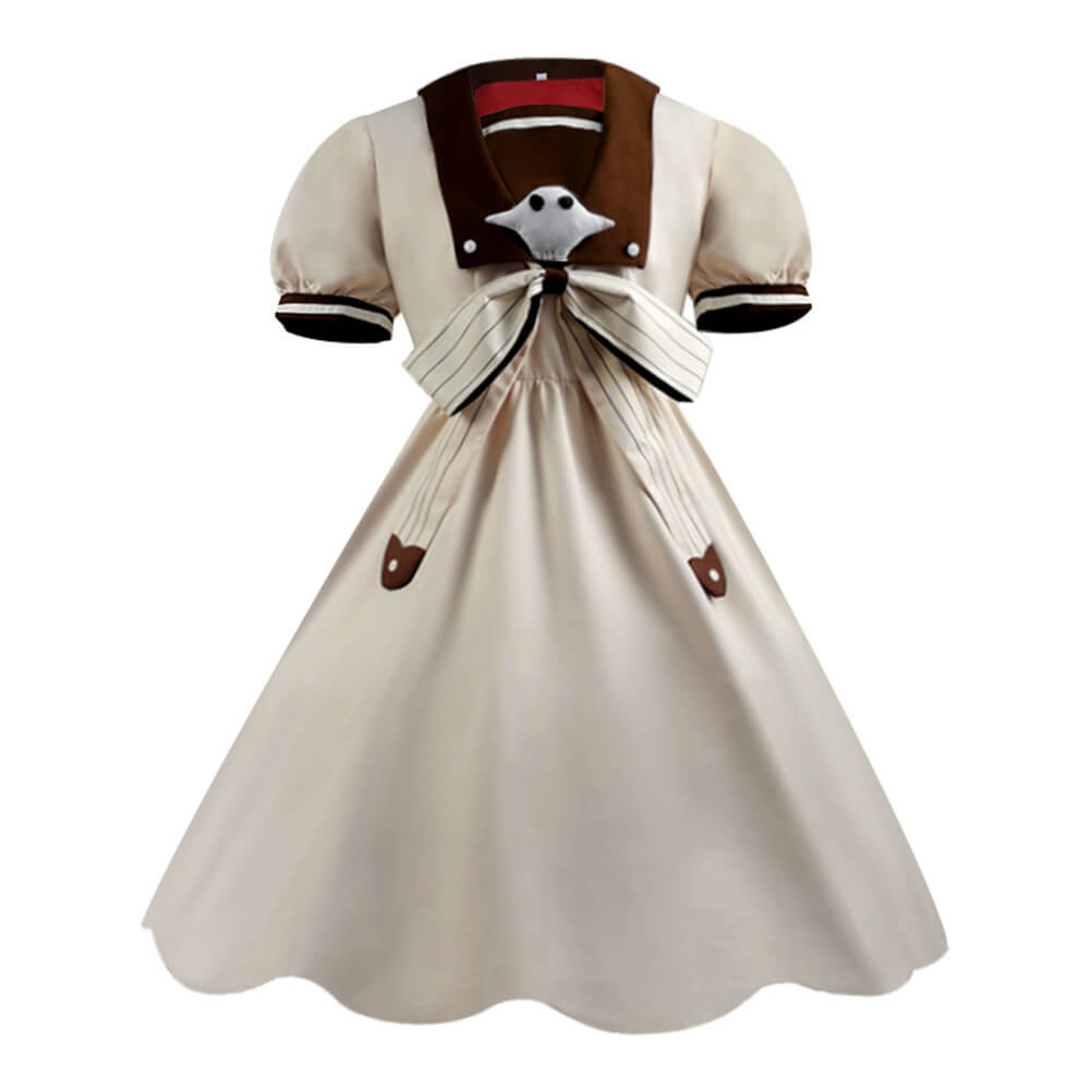 Jibaku Shounen Hanako-Kun Yashiro Nene Anime Brown Dress Cosplay Costume - ACcosplay
