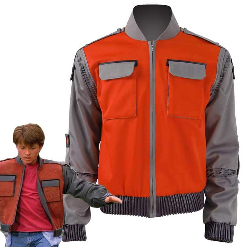 Back To The Future Marty McFly Frock Jacket Cosplay CostumeFor Sale Adults