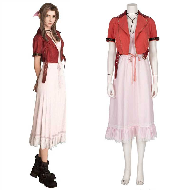 Best Final Fantasy VII Remake FF7 Aerith Gainsborough Cosplay Dress Costume