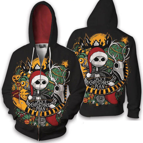 Unisex 3D Printed Graphic Halloween Christmas Cool Hoodies Pullover Hooded Sweatshirt - ACcosplay