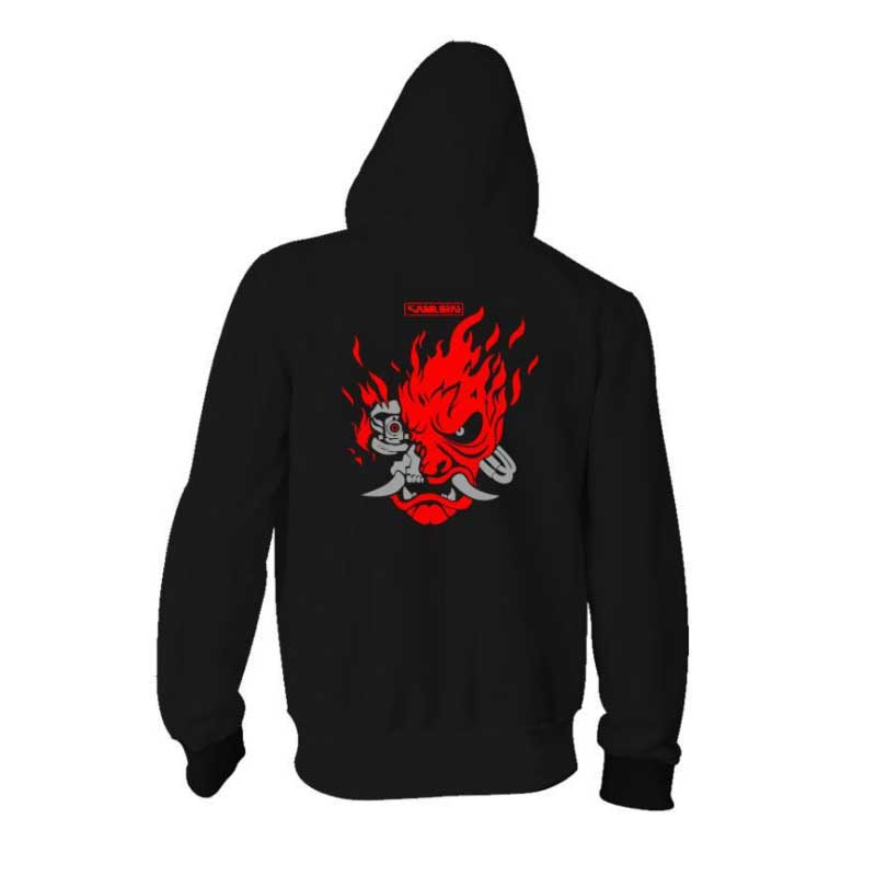 Cyberpunk 2077 Hoodies Jacket Black 3D Print Hooded Pullover Sweatshirt Adults