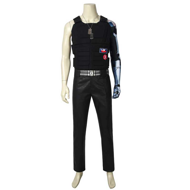 Cyberpunk 2077 Johnny Silverhand Cosplay Costume Full Set Outfit Adults