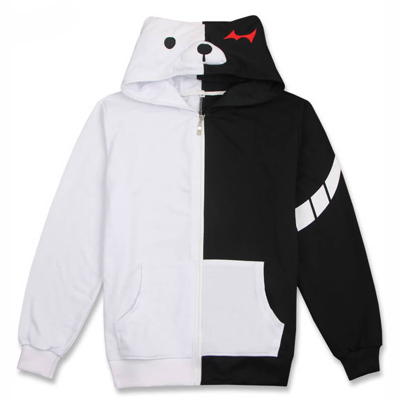 Danganronpa Monokuma Black White Bear Hoodie Jacket