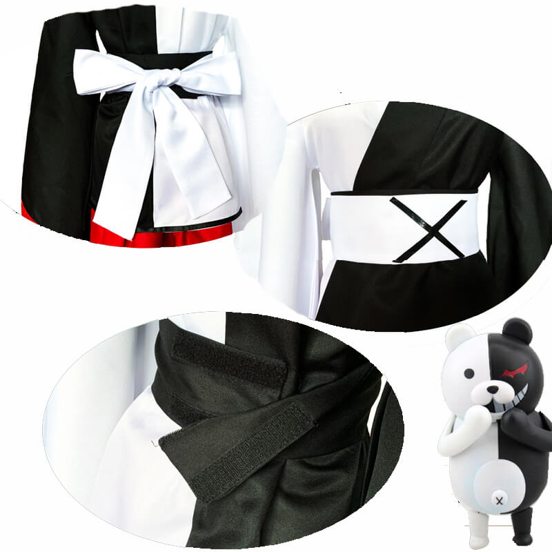 Danganronpa Monokuma Men Women Kimono Cosplay Costume