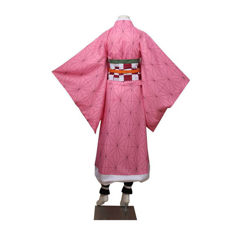 Kids Halloween Costumes Demon Slayer Kimetsu no Yaiba Kamado Nezuko Cosplay Costume Girls