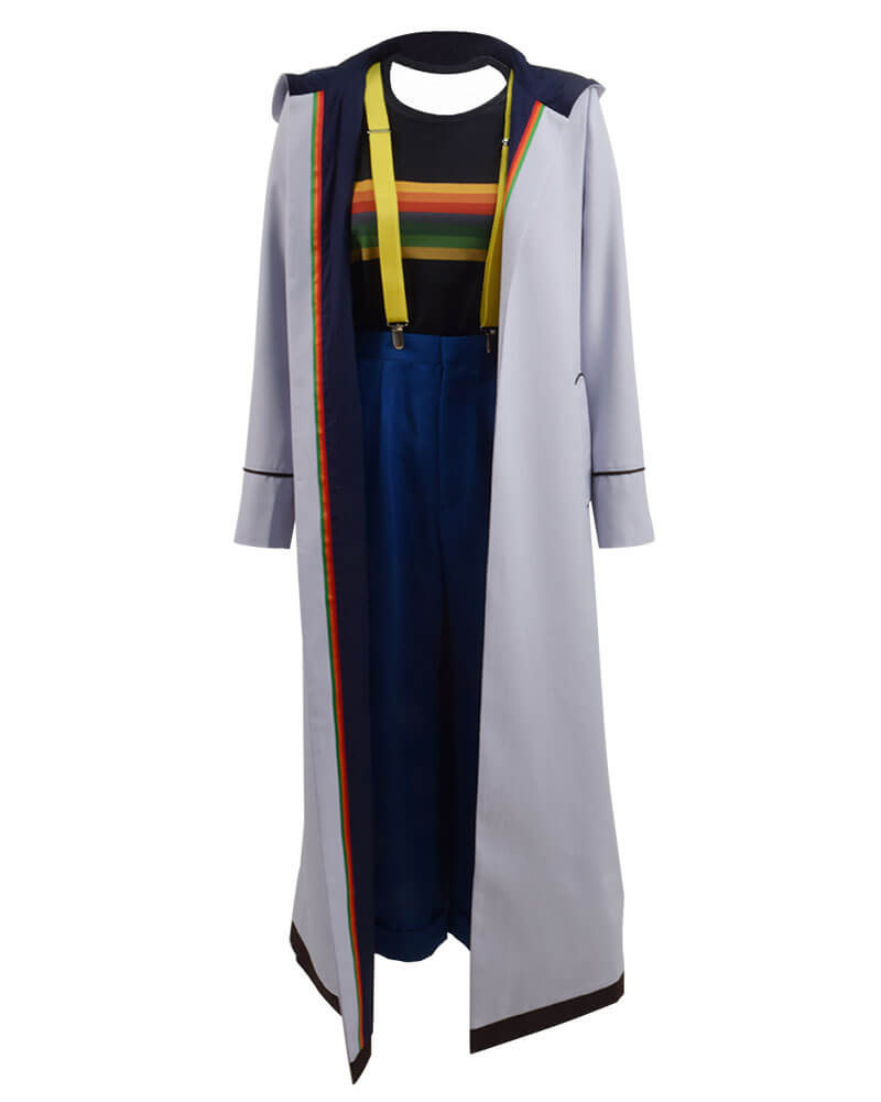 Doctor Who 13th Doctor Long Trench Coat Cosplay Costume - ACcosplay