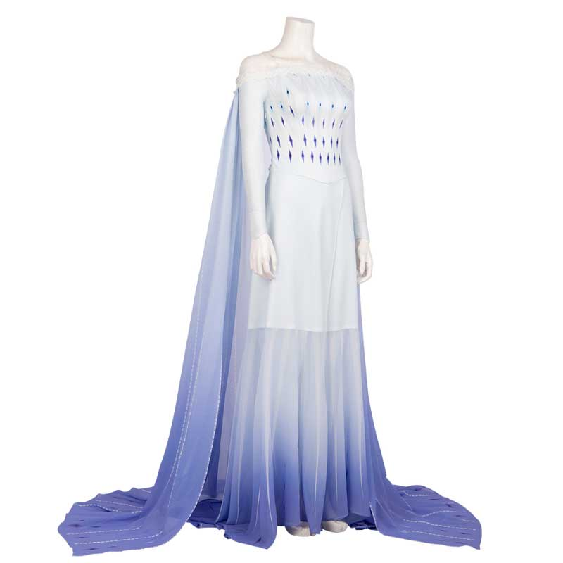 Disney Frozen 2 Elsa Costume White Dress Cosplay Costume For Adults - ACcosplay