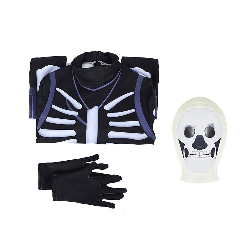 Fortnite Skull Trooper Jumpsuit Cosplay Costume - ACcosplay