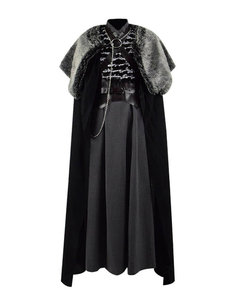 Game of Thrones Sansa Stark Dress Cape Clock Cospaly Costume Ideas For Sale - ACcosplay