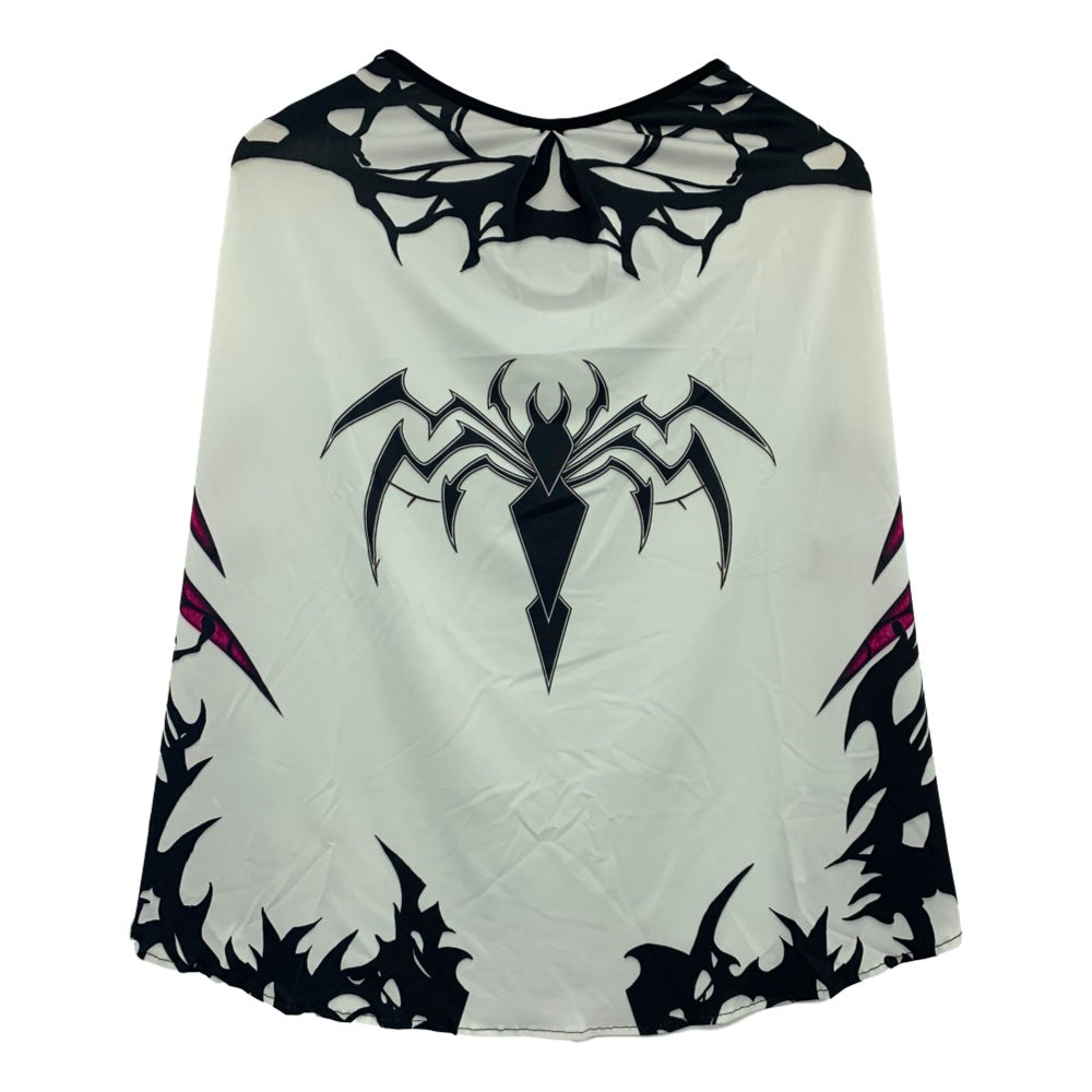 Kids Girls Spider Man Gwen Stacy Jumpsuit Bodysuit Cape Cosplay Costume