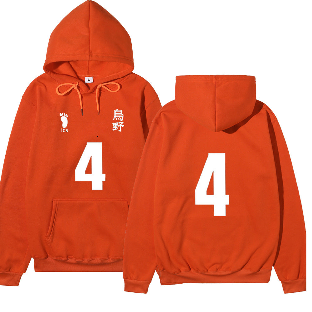 ACcosplay Adults Haikyuu High School 3D Printed Hoodie Sweatshirt