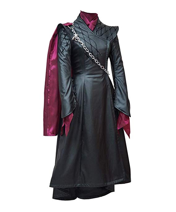 Game of Thrones 8 Women Halloween Queen Daenerys Costume Dress Cosplay Outfit - ACcosplay