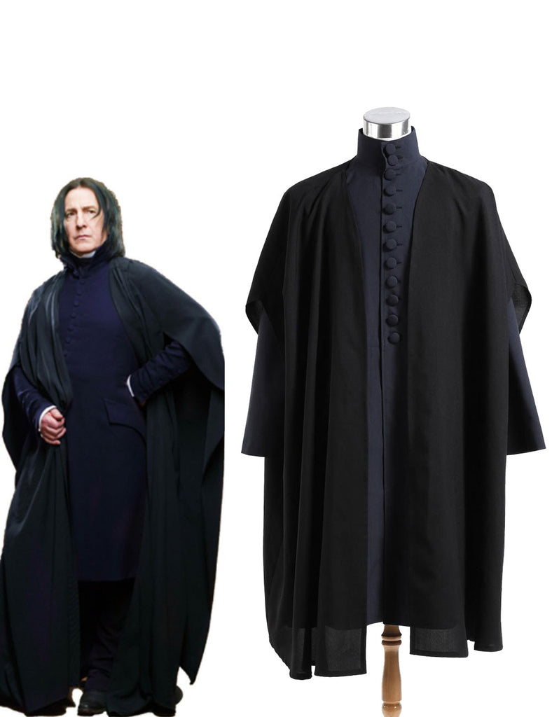 Harry Potter Deathly Hallows Severus Snape Coat Cosplay Costume Blue Version - ACcosplay