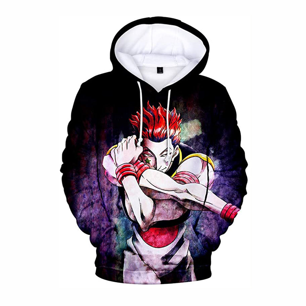 Hunter X Hunter Hisoka Cosplay Hoodie 3D Printed Hooded Pullover Sweatshirt