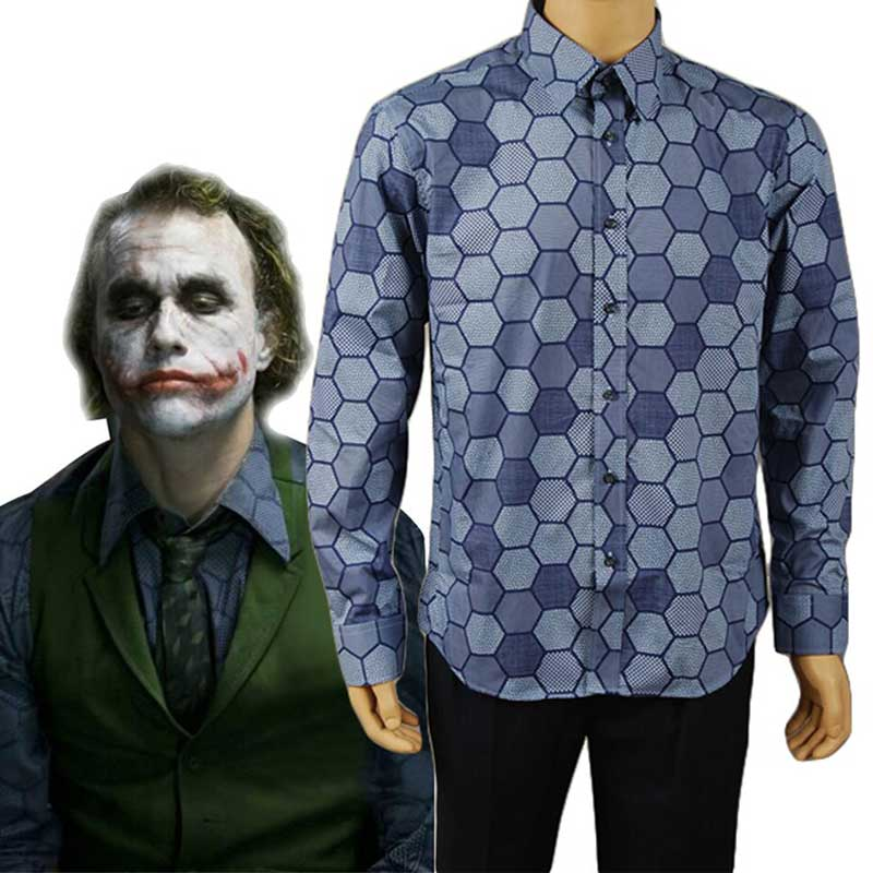 Batman: the Dark Knight Joker Cosplay T-Shirt Vest Costume Adults Mens