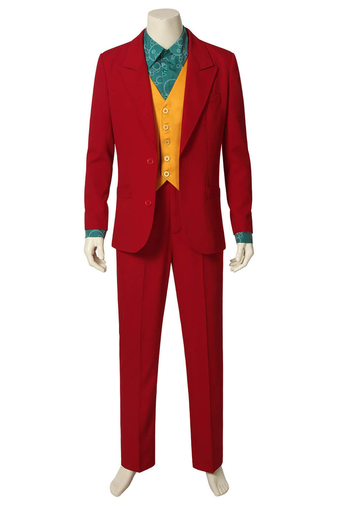 The Joker Clown Red Suit Outfit Uniform Cosplay Costume Men Halloween 2019 - ACcosplay