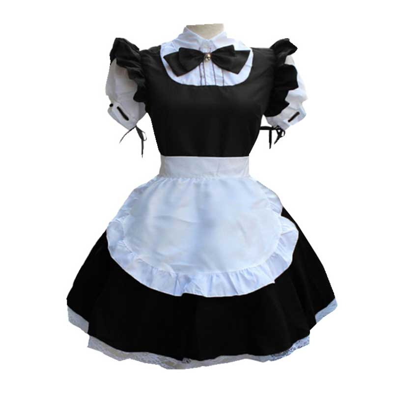 Maid Dress Women French Apron Maid Costume Cute Short Sleeve Lolita Dress