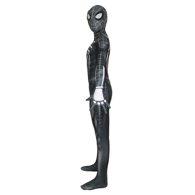 Marvel PS4 Spider-Man Spiderman Black Jumpsuit Cosplay Costume - ACcosplay