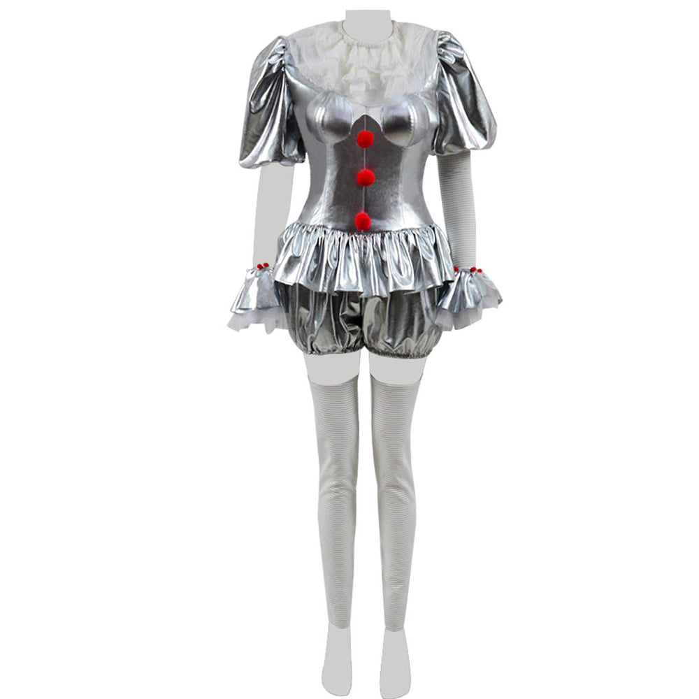Movie It Pennywise Women Cosplay Costume The Dancing Clown Costume