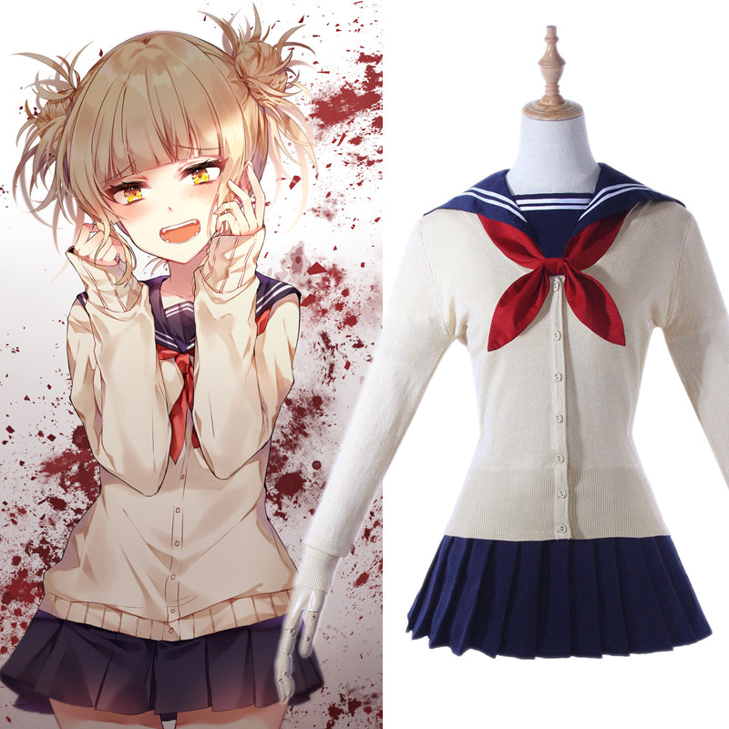 My Hero Academia Himiko Toga School Uniform Cosplay Costume Wig - ACcosplay