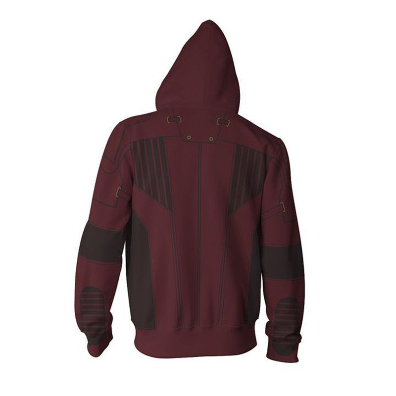 2018 3D Printed Star Lord Infinity War Sweatshirts Hooded Jacket - ACcosplay