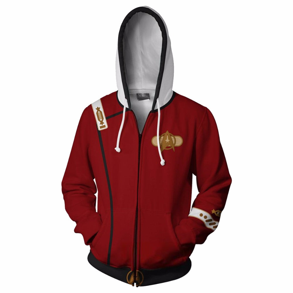 Star Trek The Wrath of Khan Hoodie 3d Printed Zipper Swearshirts - ACcosplay