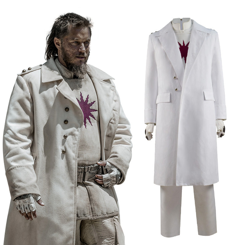 Raised By Wolves Marcus Cosplay Costume White Trench Coat Full Set Outfit